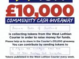 West Lothian Courier – Wish £10,000 Community cash giveaway